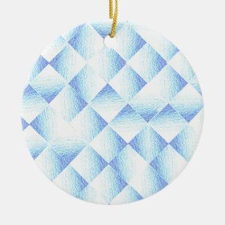 Blue Ombre Diamonds Ceramic Ornament