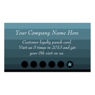 Blue Ombre Discount Promotional Punch Card