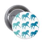 Blue Ombre Dressage Horse 2 Inch Round Button