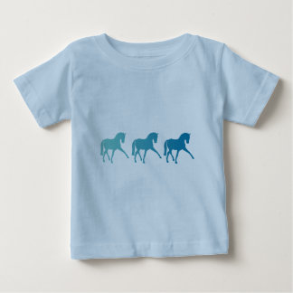 Blue Ombre Dressage Horse Baby T-Shirt