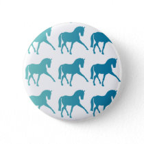 Blue Ombre Dressage Horse Button