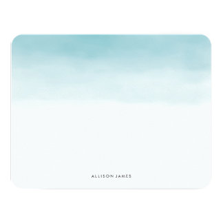 Blue Ombre Flat Note Cards