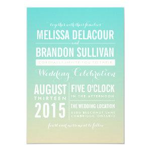Blue Ombre / Gradient Wedding Invitations