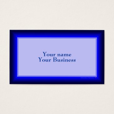 Professional Business Blue Ombre Graduated Colors Business Card Template