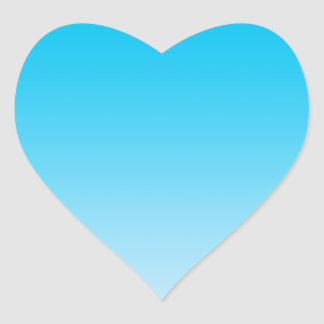 Blue Ombre Heart Sticker