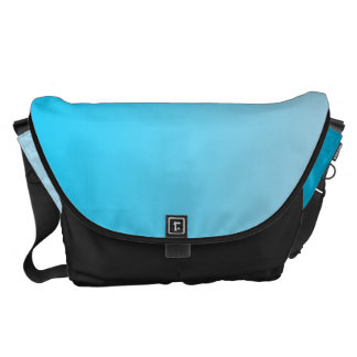 Blue Ombre Large Messenger Bag