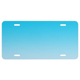 """Blue Ombre"" License Plate"