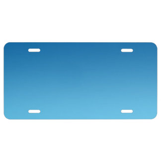 """""""Blue Ombre"""" License Plate"""