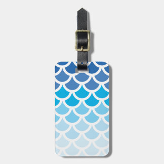Blue Ombre Mermaid Scales Bag Tags