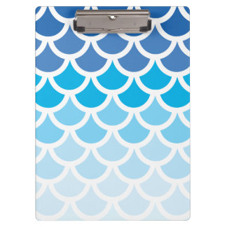 Blue Ombre Mermaid Scales Clipboard