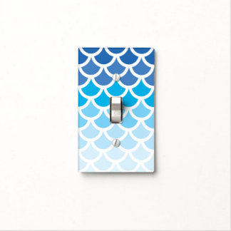 Blue Ombre Mermaid Scales Light Switch Cover