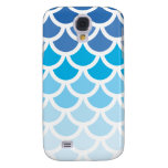 Blue Ombre Mermaid Scales Samsung Galaxy S4 Case