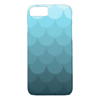Blue Ombre Scallop Pattern iPhone 7 Case