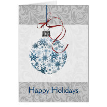 Blue Ombre snowflakes ornament Card