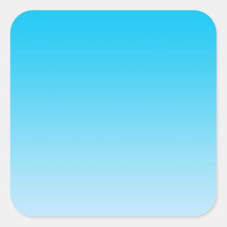 Blue Ombre Square Sticker