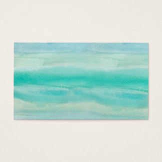 Blue Ombre Watercolor Wash Pattern Business Card