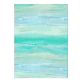 Blue Ombre Watercolor Wash Pattern Card