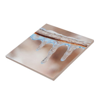 blue on an icy day ceramic tile