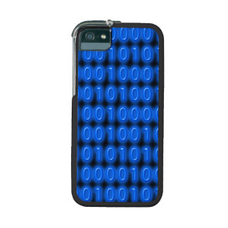 Blue on Black Binary Code Cover For iPhone 5