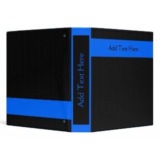 Blue on Black Custom Binder