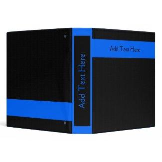 Blue on Black Custom Binder
