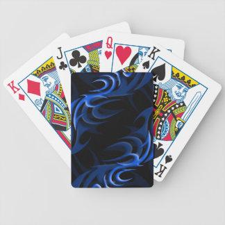 "Blue on Black ""Smoke"" Playing Cards"