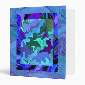 Blue on blue abstract art Avery Binder