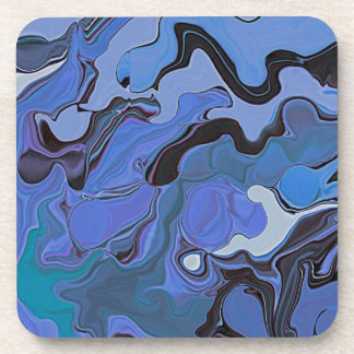 blue on blue beverage coaster