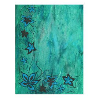 Blue on blue haze postcard