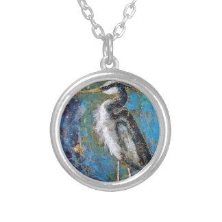Blue On Blue Round Pendant Necklace