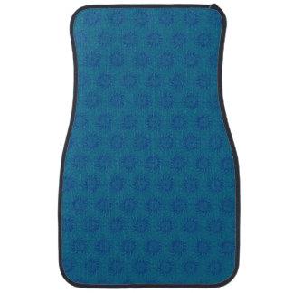 Blue on Blue Solar Sun Pattern Car Mat