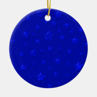 Blue On Blue Starry Ornament