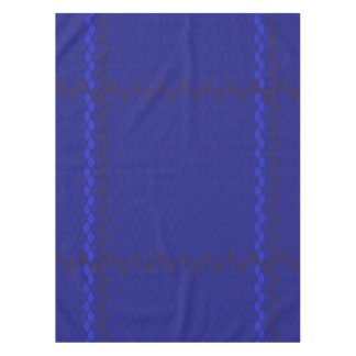 Blue on Blue Tile Pattern Tablecloth by KCS