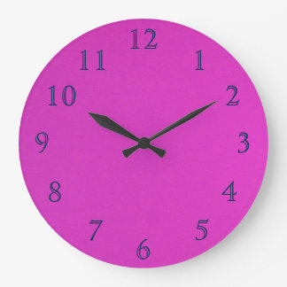 Blue on gradient Pink Large Clock