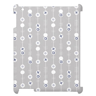 Blue on Gray Retro Fruit Slices Cover For The iPad 2 3 4