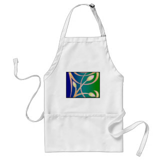 Blue on Green Adult Apron