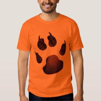 Blue On Orange Shirt