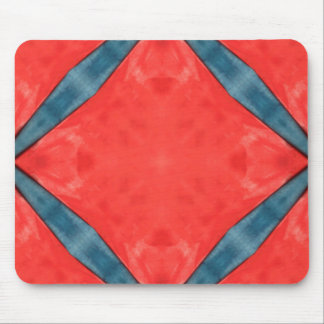Blue on Red Mouse Pad