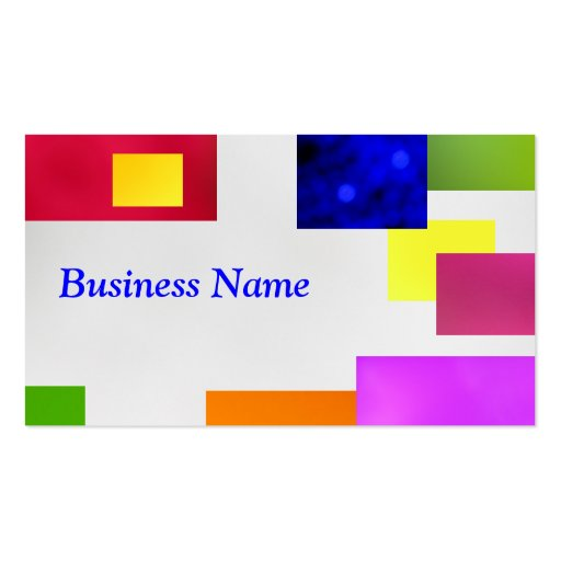 Blue on White Business Card Templates