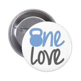 Blue One Love Buttons