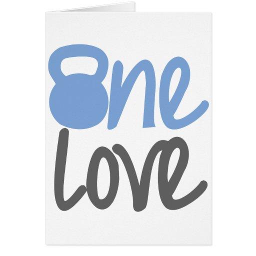 "Blue ""One Love"" Card"
