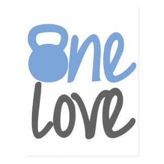 "Blue ""One Love"" Postcard"