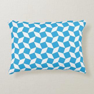 Blue Op Art Pattern Accent Pillow