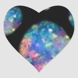 Blue Opal Gems Birthstone Gifts by Sharles Heart Sticker