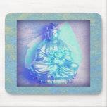 Blue Opal Kwan Yin mousepad