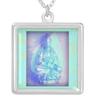 Blue Opal Kwan Yin necklace
