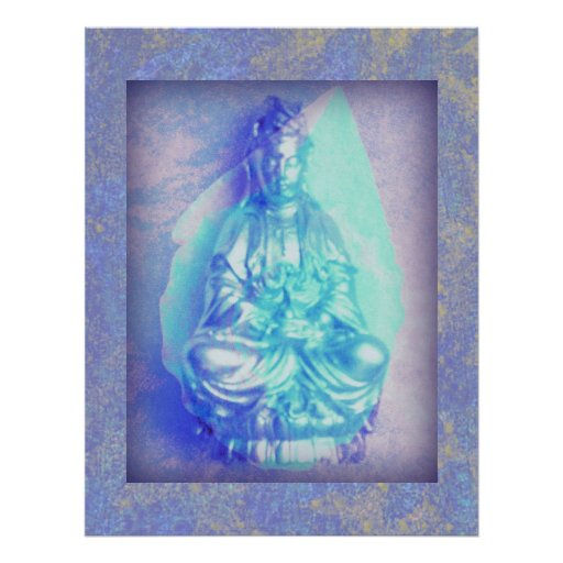 Blue Opal Kwan Yin poster