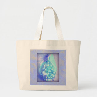 Blue Opal Kwan Yin tote bag