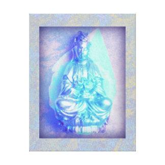 Blue Opal Kwan Yin wrapped canvas print