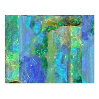 Blue Opal October Birthstone by Sharles Postcards